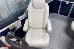 High Back Helm Chair on the 2022 Sylvan Mirage 8520 Cruise Pontoon Boat