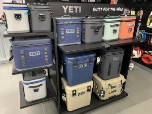 Our pro shop offers Yeti Coolers and Costa Sunglasses for all your fishing adventures.
